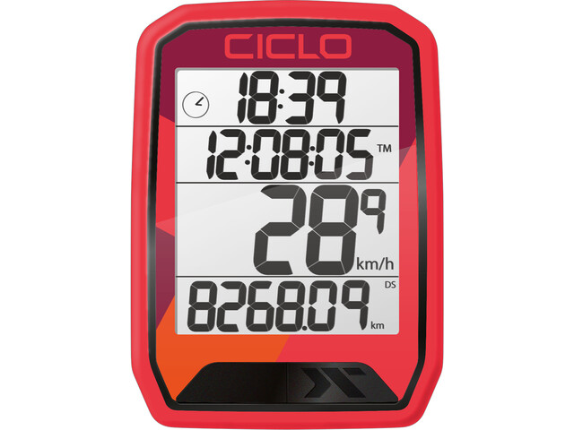 Ciclosport Protos 113 Cykelcomputer, rød